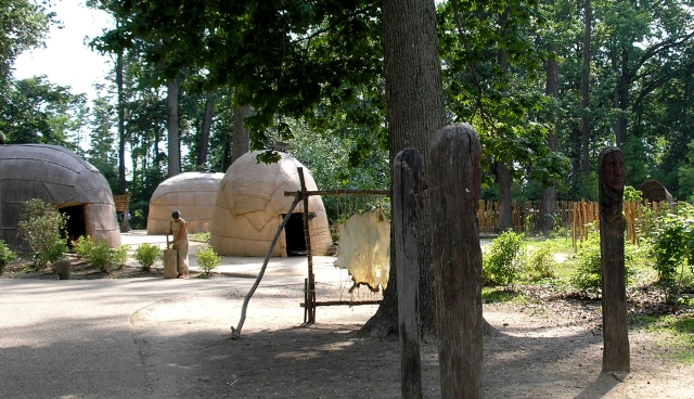 Powhatan Indian village, Jamestown-Yorktown Foundation