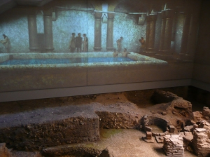 The Novium, bath excavation