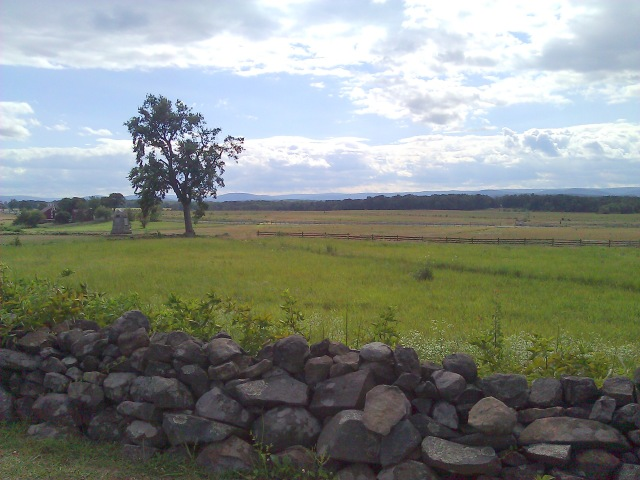 Field of Pickett's Charge from Union lines