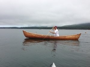 Tim in canoe