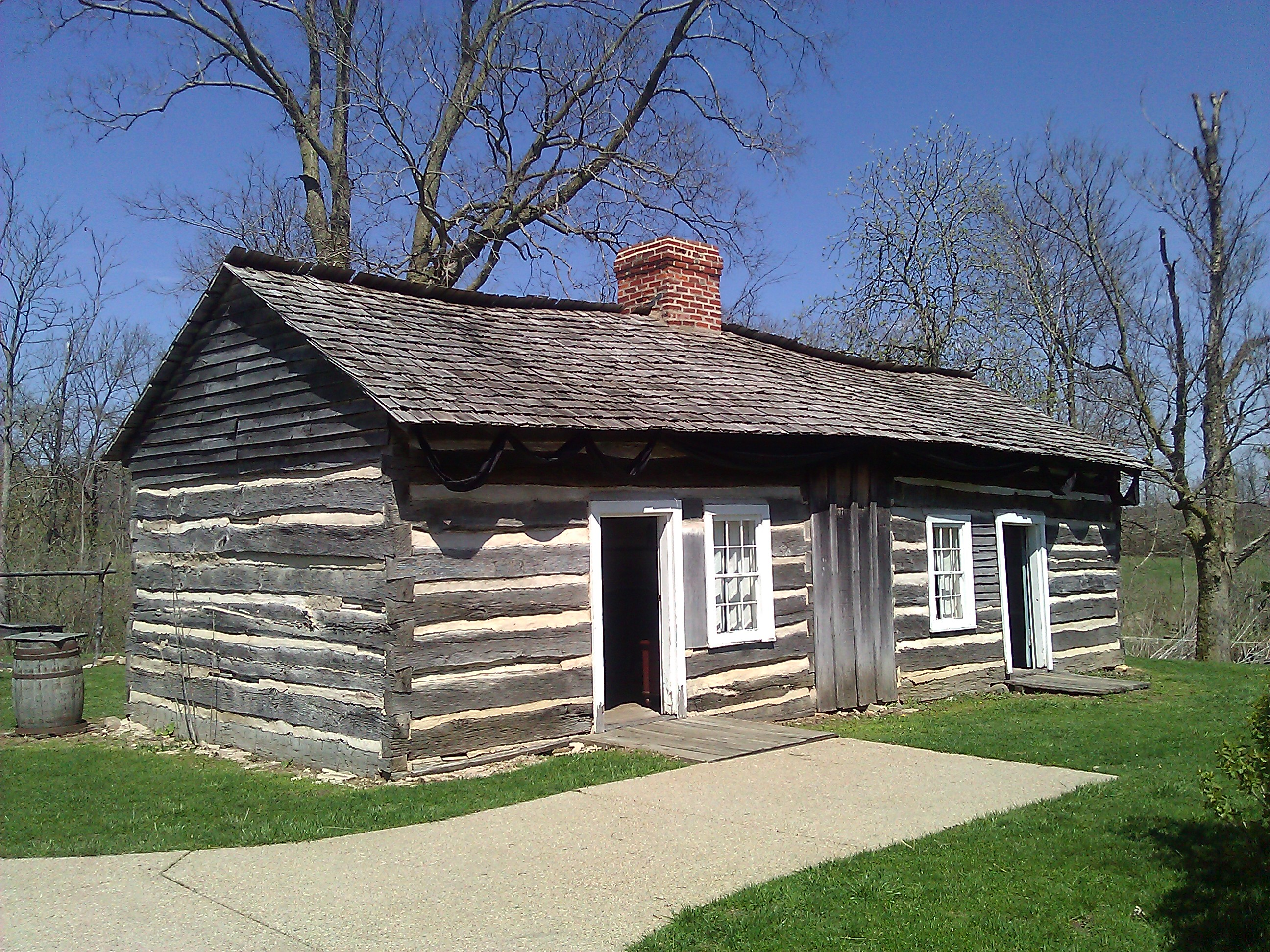 Lincoln Log Cabin ~ A lincoln log cabin historyplaces