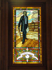 Barney Ford window in the state capitol, Denver, CO