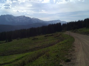 near Boreas Pass, continental divide, along an old railroad route