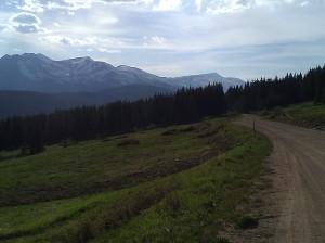 near Boreas Pass, continental divide, along an old railroad route