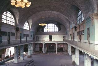 Great Hall of Ellis Island - pre-restoration, NPS