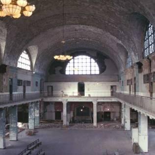 Great Hall of Ellis Island - pre-restoration, NPS
