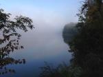 Biking along the edge of the world: fog on the Potomac River.