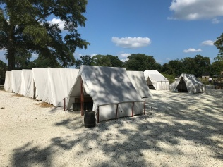 enlisted soldier tents, Yorktown