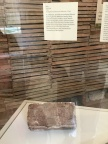 This historic brick shows a sketch of the house's portico columns which could have been made by enslaved workers.