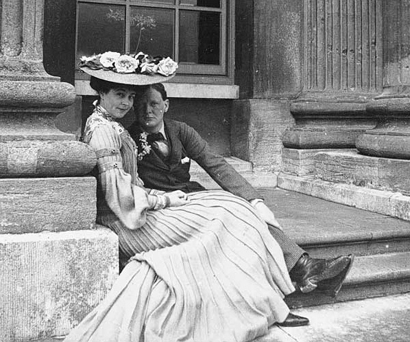 Consuelo Vanderbilt with Winston Churchill at Blenheim